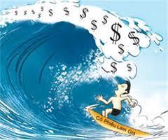 Các khoản tiền lớn luôn nằm trong những đợt sóng dài